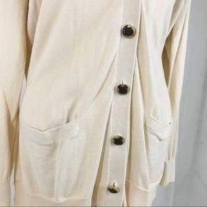 Ralph Lauren Sweaters - Ralph Lauren Cream Buttoned Down XL Cardigan